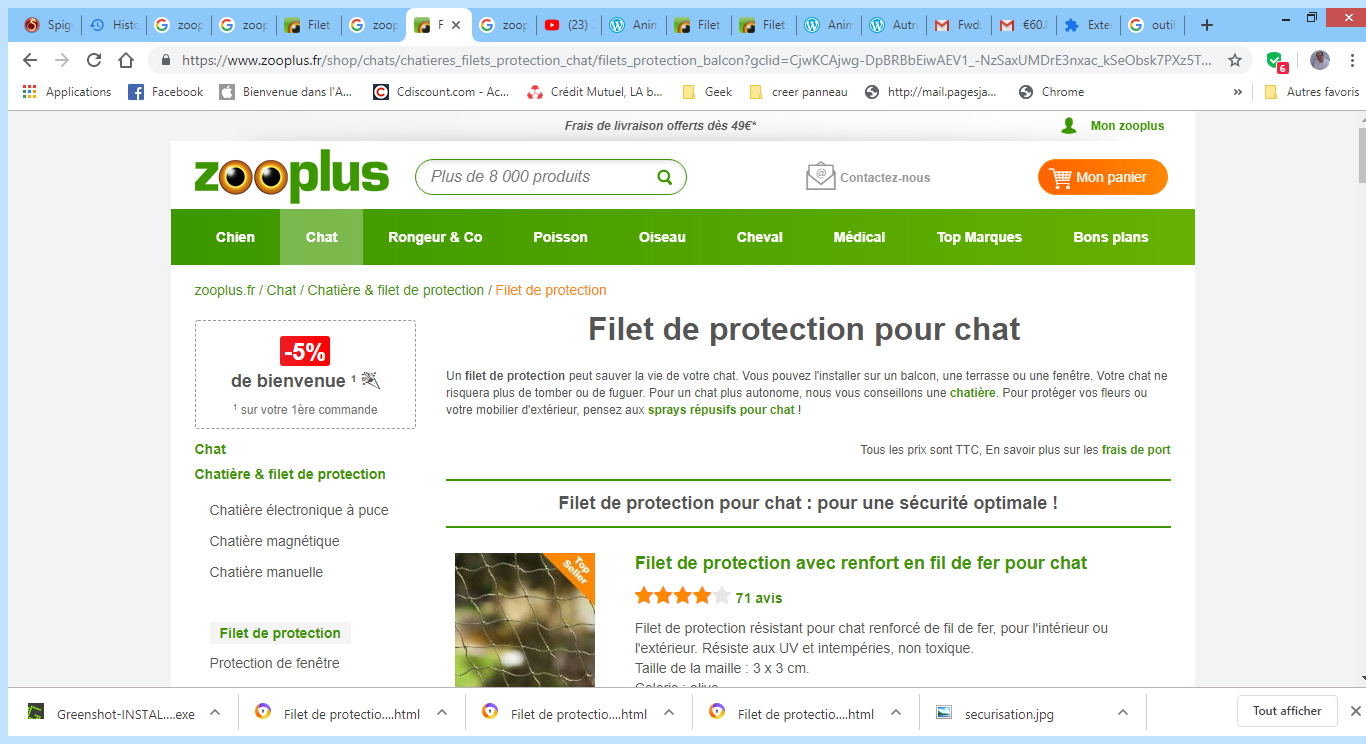 2019-07-24 23_30_34-Filet de protection pour chat - zooplus